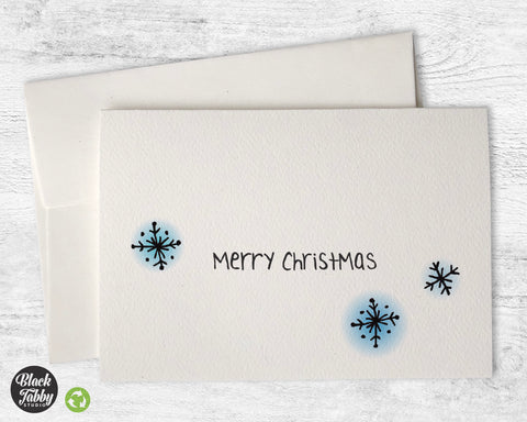 Dazzling Snowflakes - Merry Christmas Cards