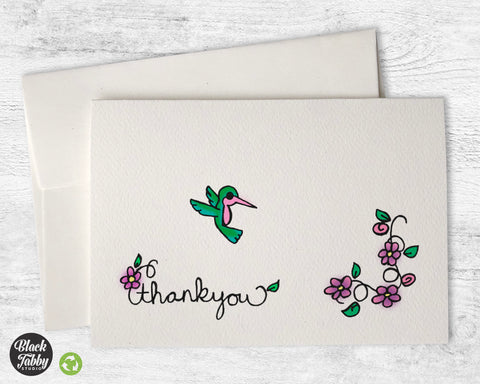 Pretty Little Hummingbird - Thank You Cards