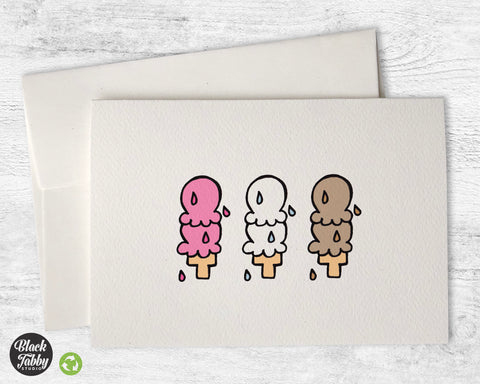 6 Scoops of Ice Cream - Greeting Cards