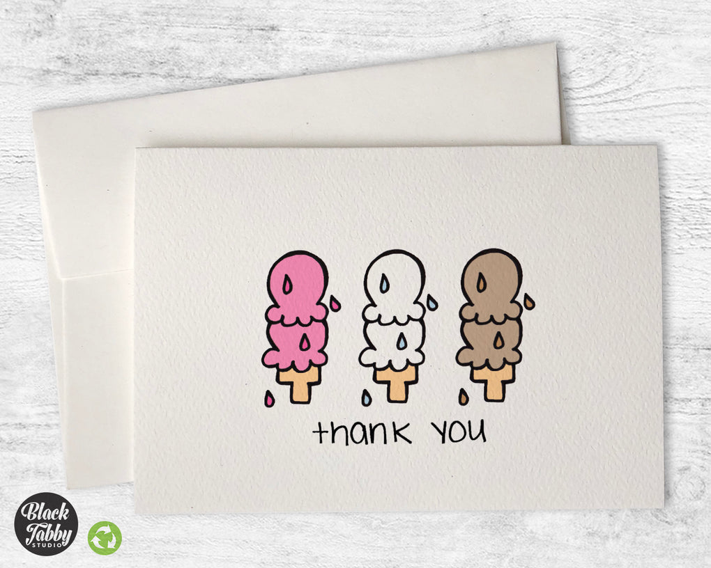 6 Scoops of Ice Cream - Thank You Cards