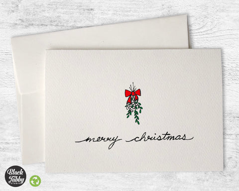 Under The Mistletoe - Merry Christmas Cards