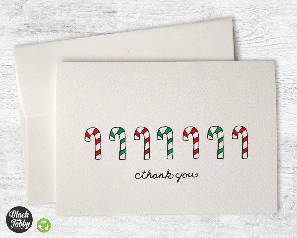 Candy Canes - Thank You Cards