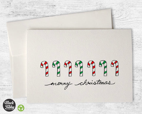 Candy Canes - Merry Christmas Cards