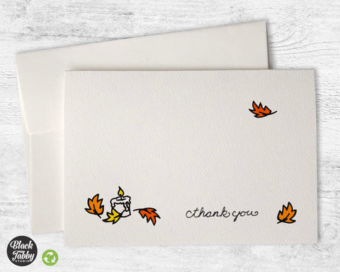 Autumn Candles - Thank You Cards