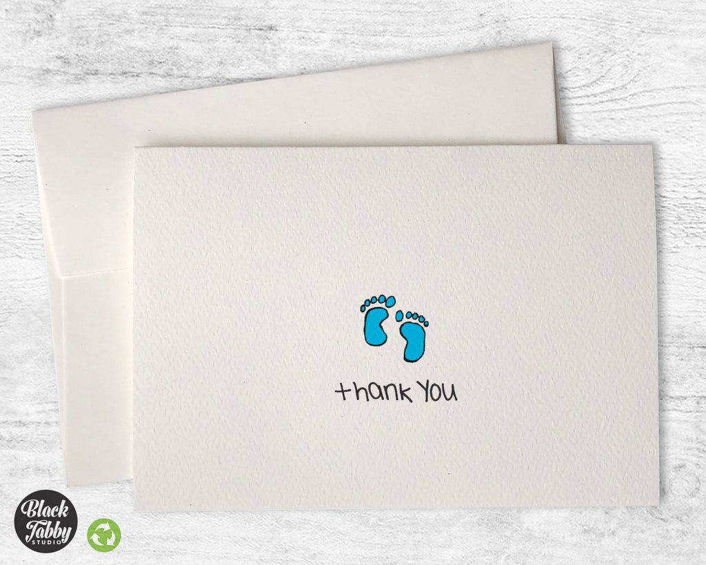 Adorable Baby Boy Feet - Thank You Cards