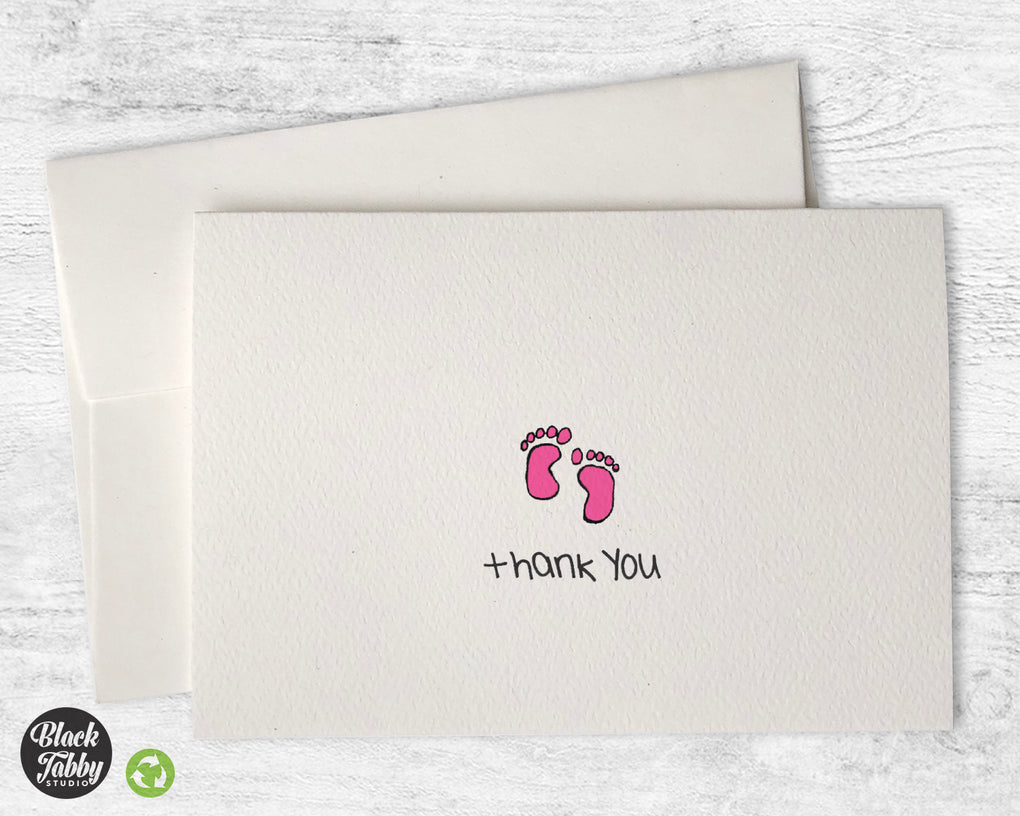 Adorable Baby Girl Feet - Thank You Cards