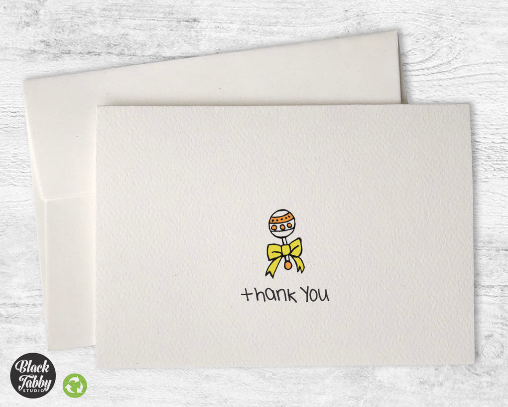 Sweet Baby Rattle - CLEARANCE - Thank You Cards