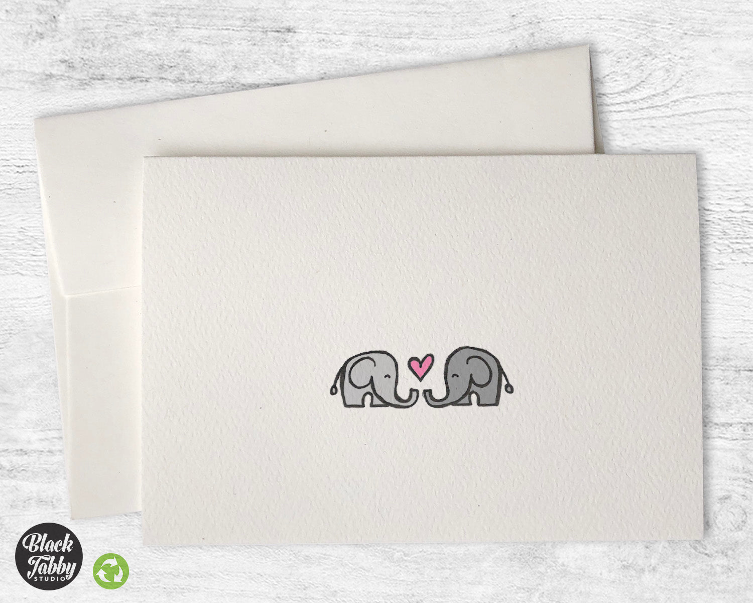 Elephants in love greeting cards black tabby studio m4hsunfo