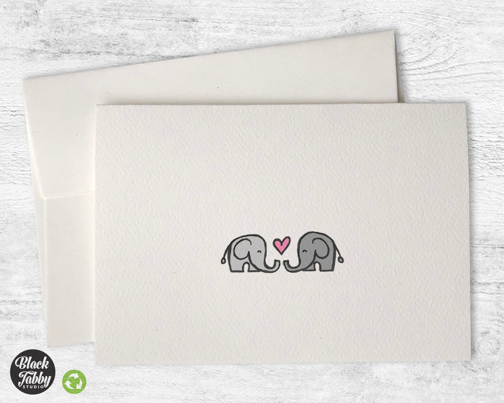 Elephants in Love - Greeting Cards