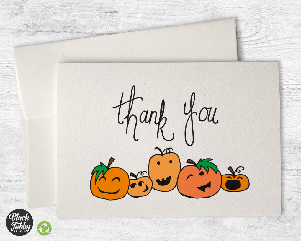 Jack-O-Lantern - Thank You Cards