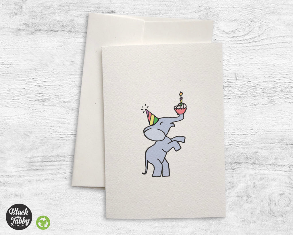 Party Elephant - Greeting Cards