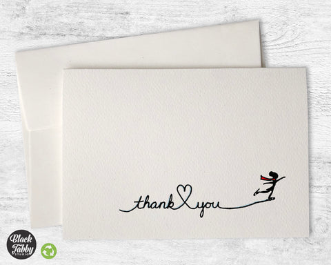 Ice Skating - Thank You Cards