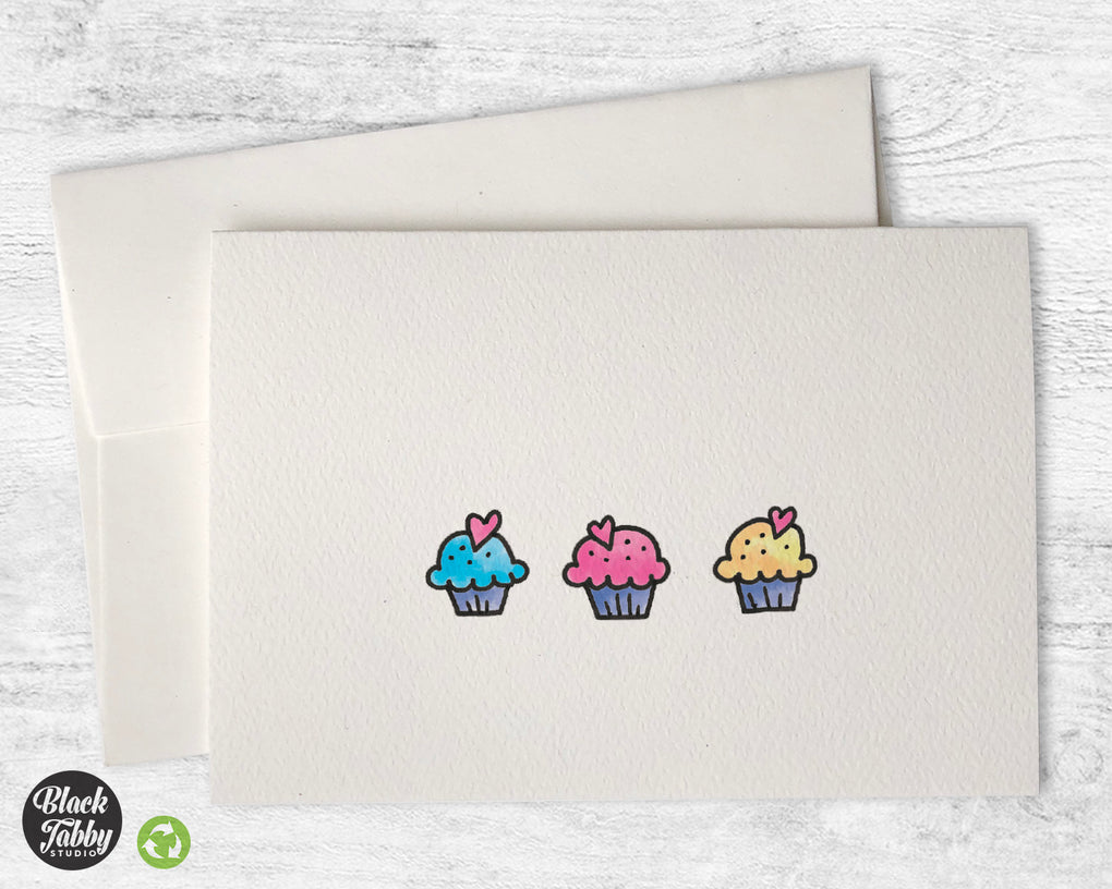 Sweet Little Cupcakes - CLEARANCE - Greeting Cards
