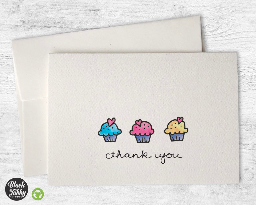 Sweet Little Cupcakes - Thank You Cards