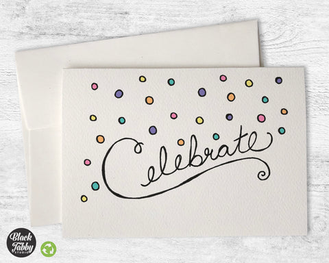 Colorful Confetti Celebration - Greeting Cards