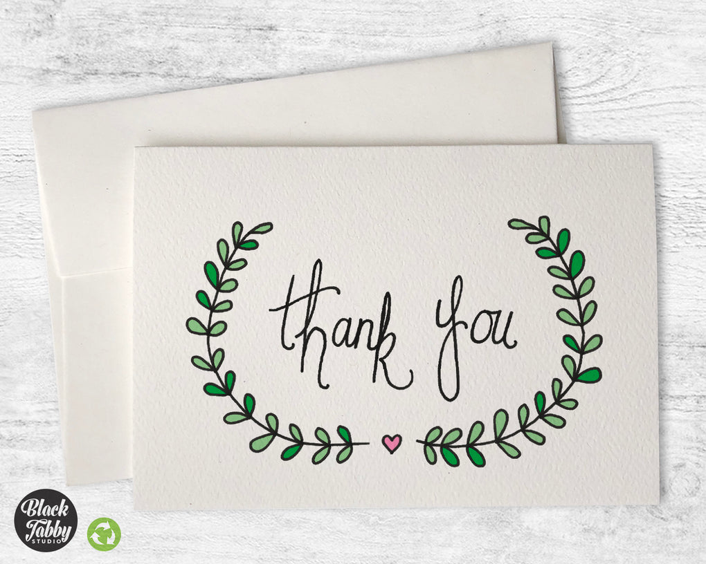 Pretty Vines - Thank You Cards