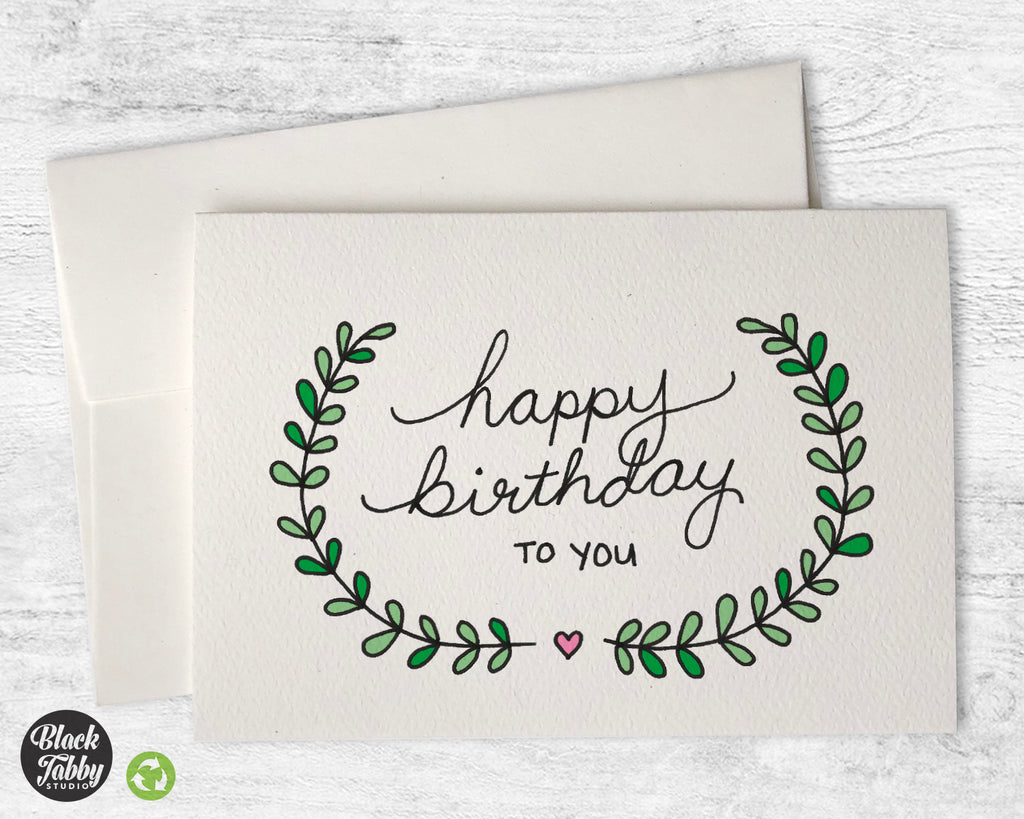Pretty Vines - Birthday Cards