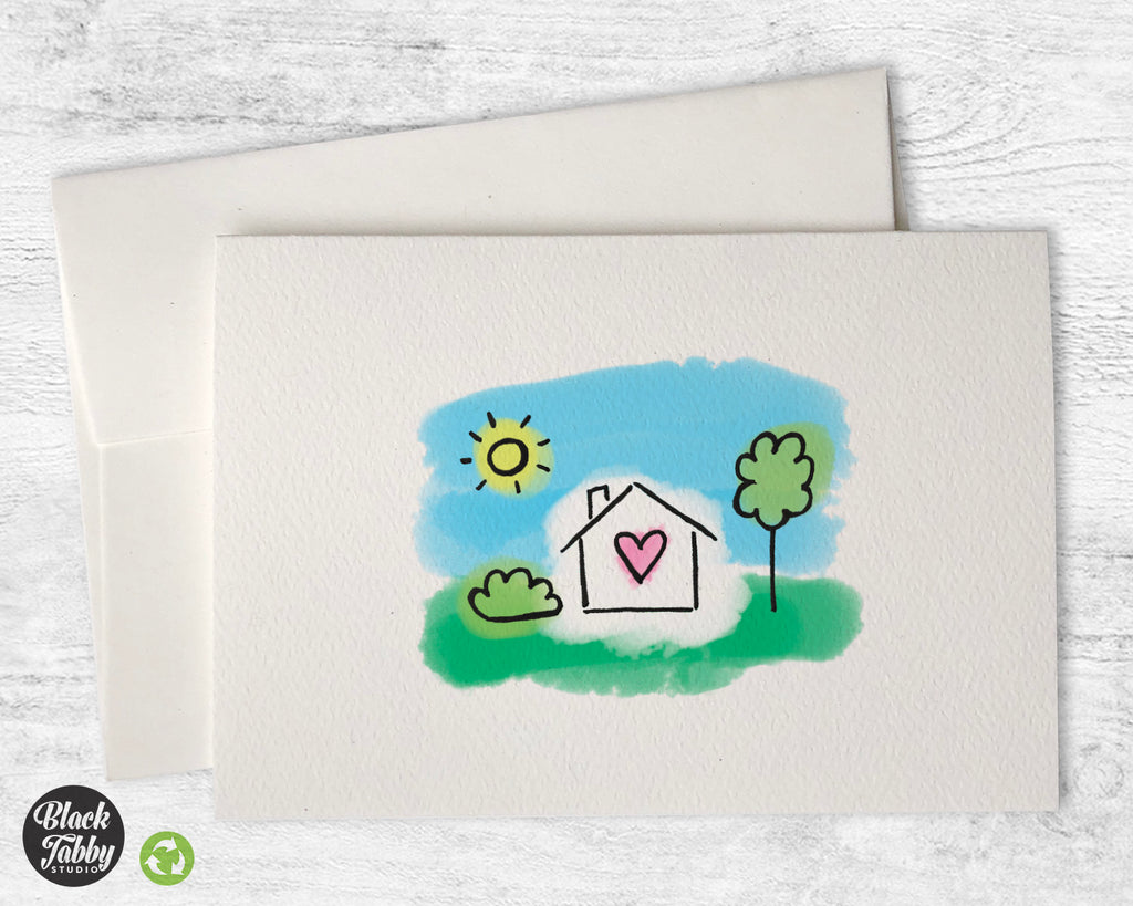 Home Sweet Home with a Yard - Greeting Cards