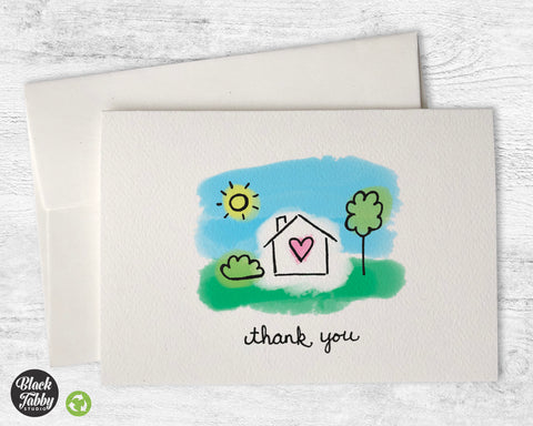 Home Sweet Home - Thank You Cards