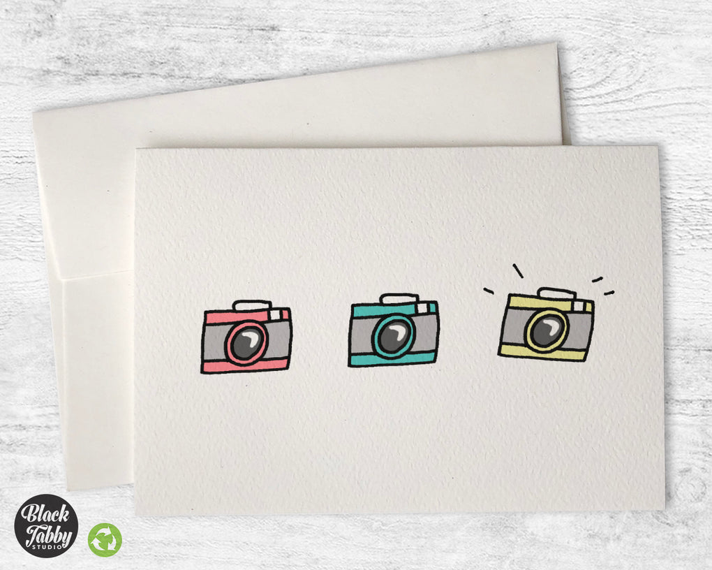 Retro Cameras - Greeting Cards