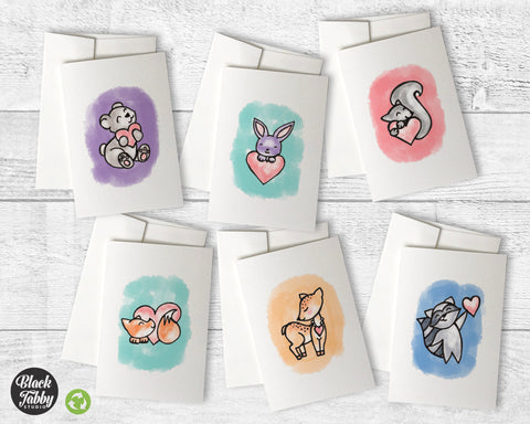 Cute Animals with Hearts - Collection Pack