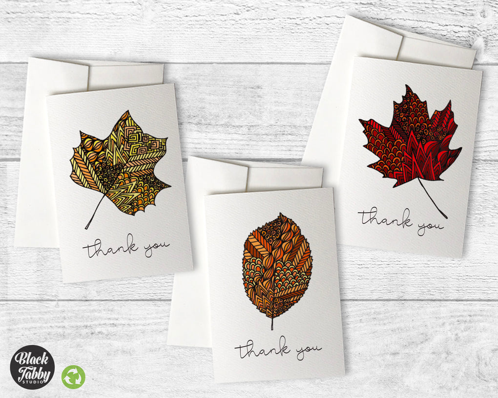Zentangle Leaves - CLEARANCE - Thank You Collection Pack