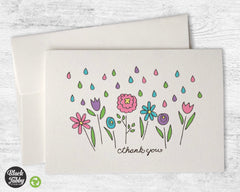 Spring Showers Floral - Thank You Cards