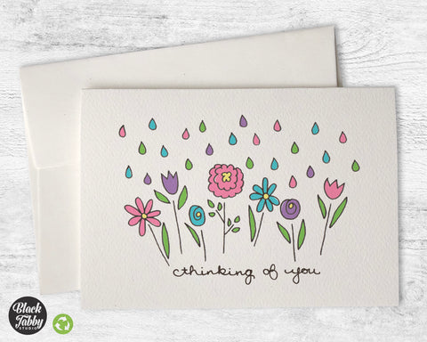 Spring Showers Floral - Thinking of You Cards