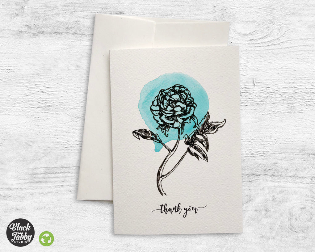 Botanical Peony - Thank You Cards