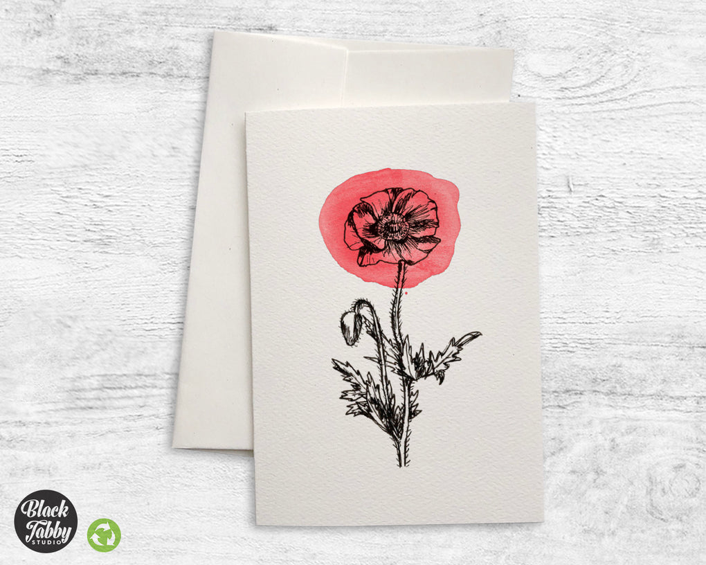 Botanical Poppy - Greeting Cards