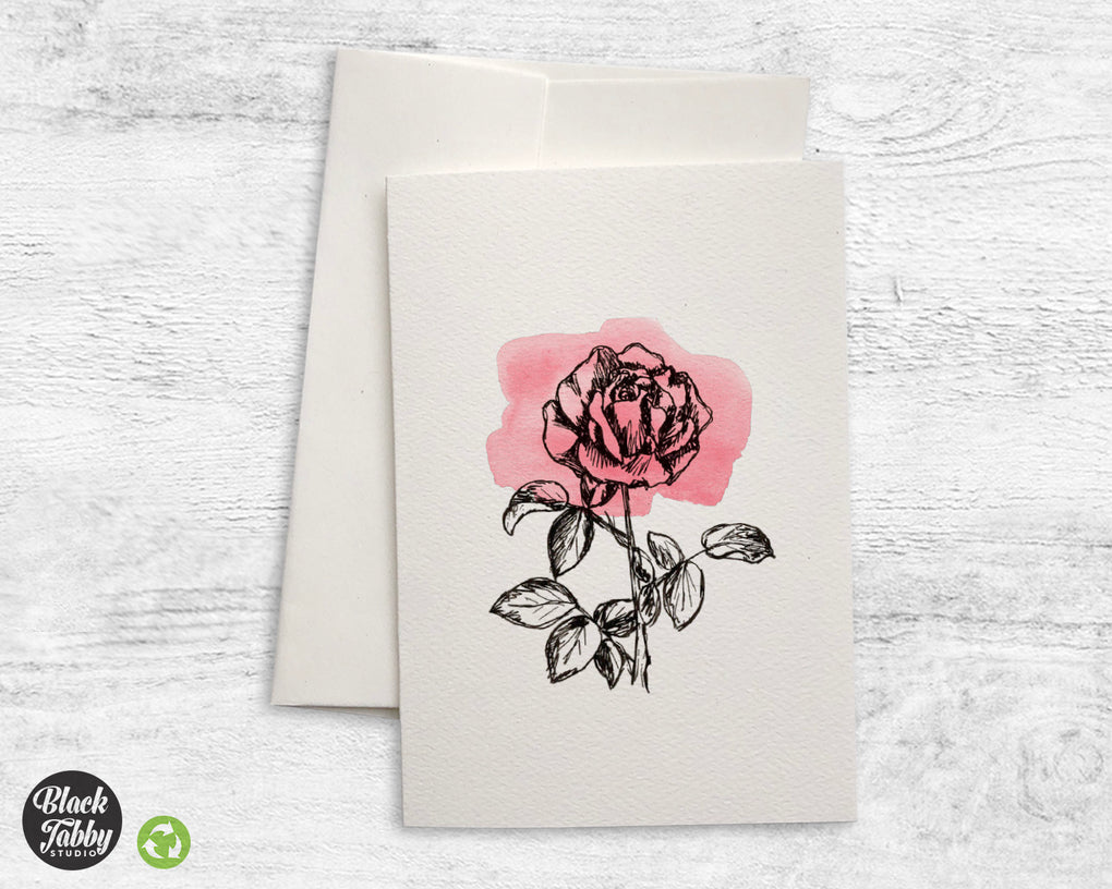Botanical Rose - Greeting Cards