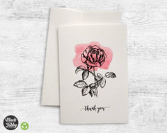 Botanical Rose - Thank You Cards