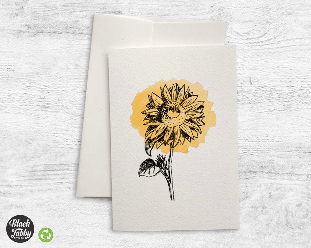 Botanical Sunflower - Greeting Cards