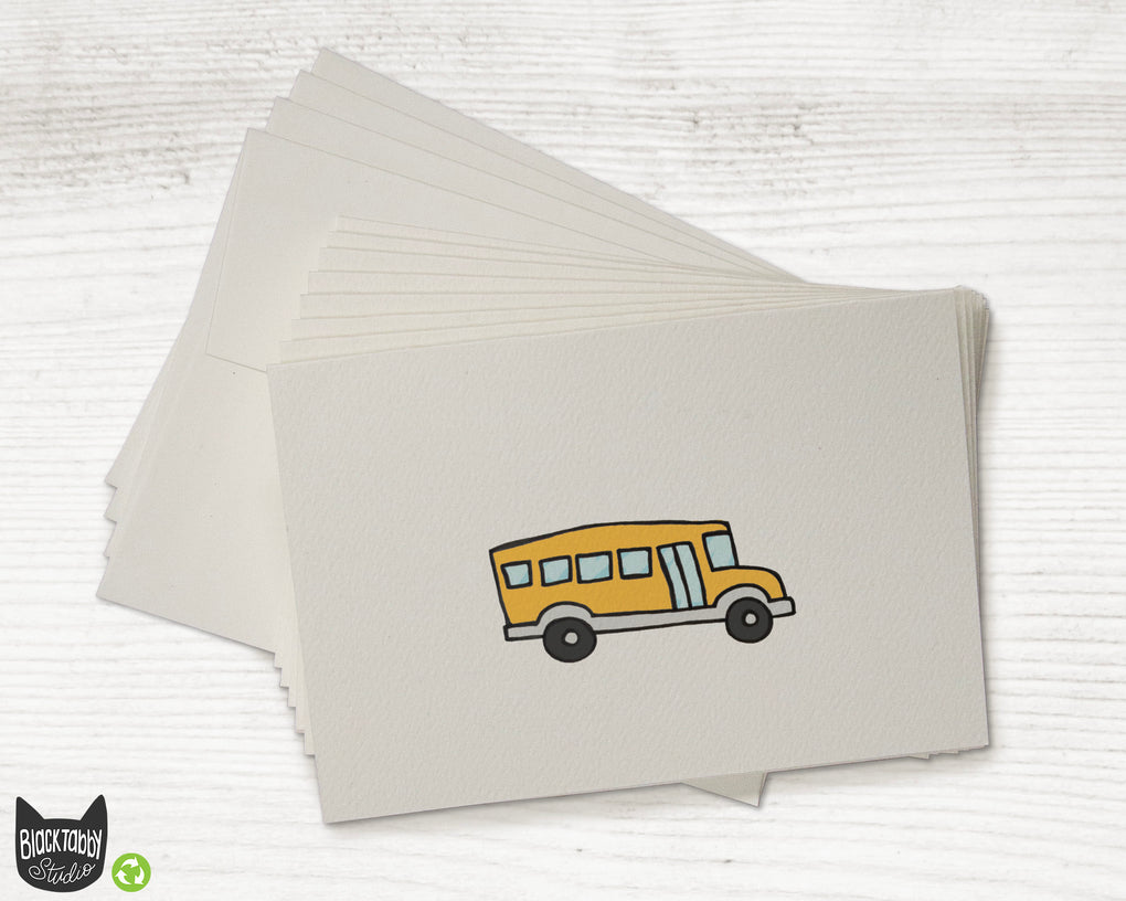 School Bus - Greeting Cards