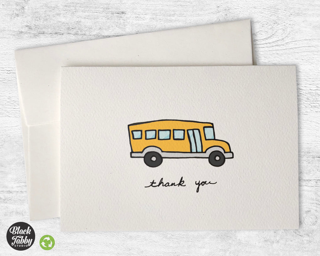 School Bus - Thank You Cards
