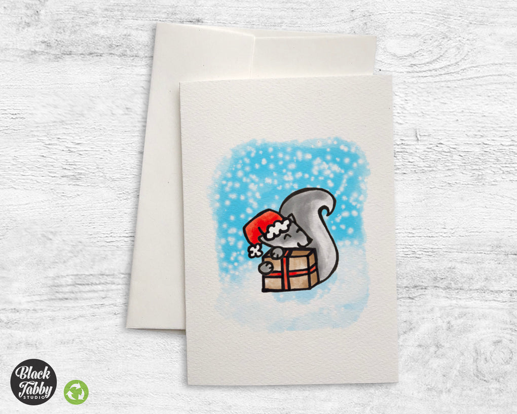 Holiday Squirrel - Greeting Cards