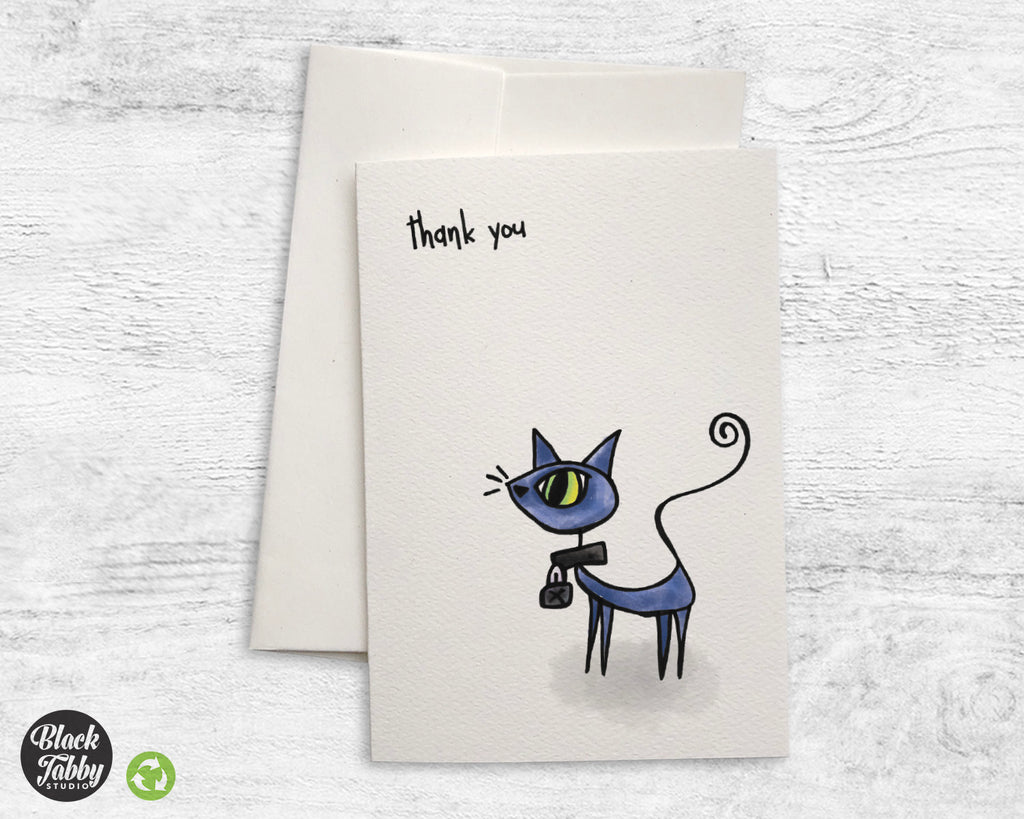 Curiosity Killed the Cat - Thank You Cards