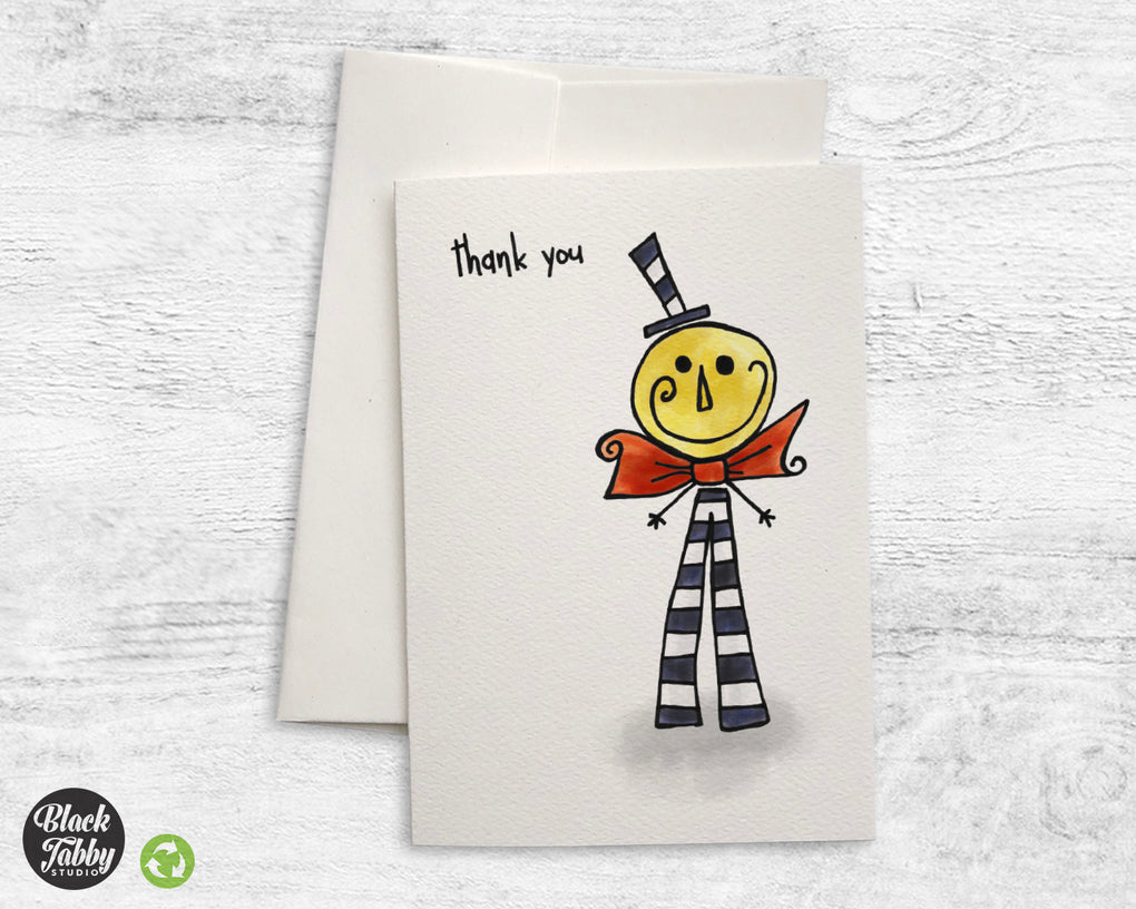Happy Moonman - CLEARANCE - Thank You Cards