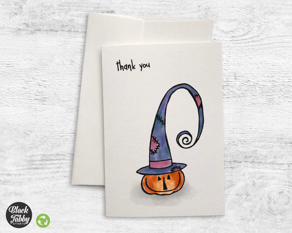Witchy Pumpkin - CLEARANCE - Thank You Cards