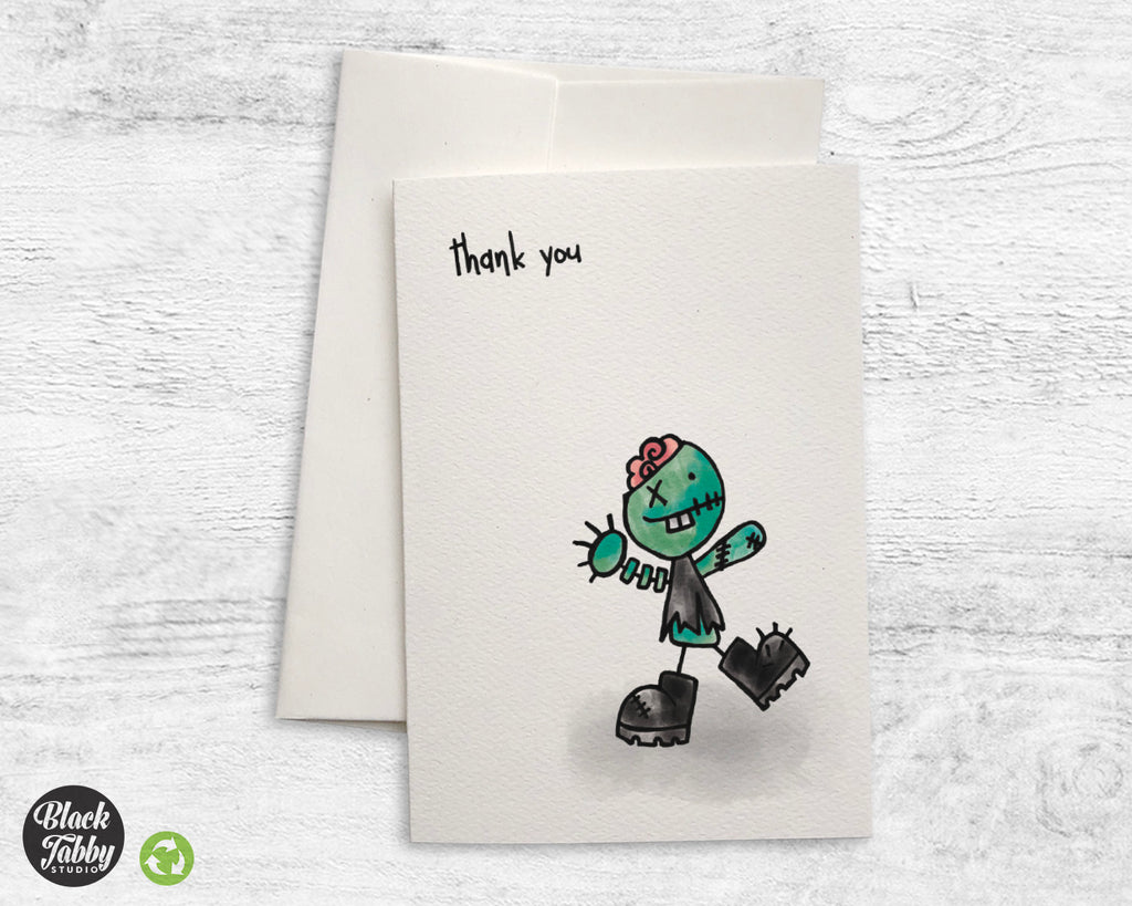 Silly Little Zombie - Thank You Cards