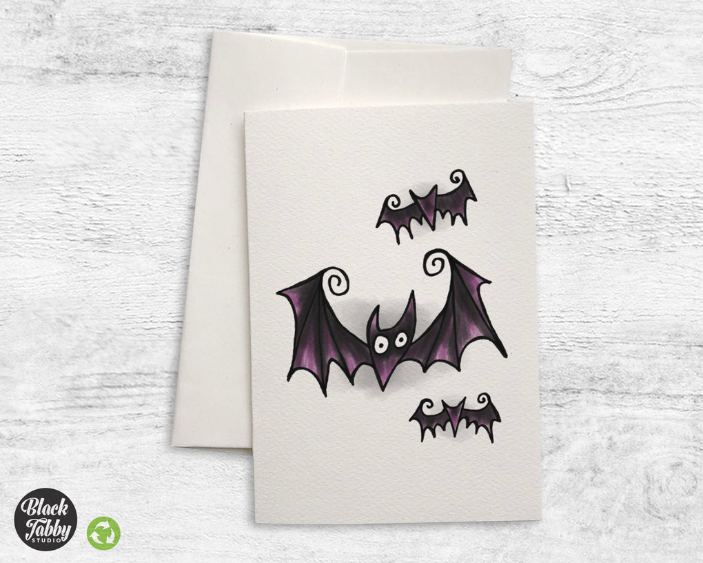 Spooky Bats - Greeting Cards