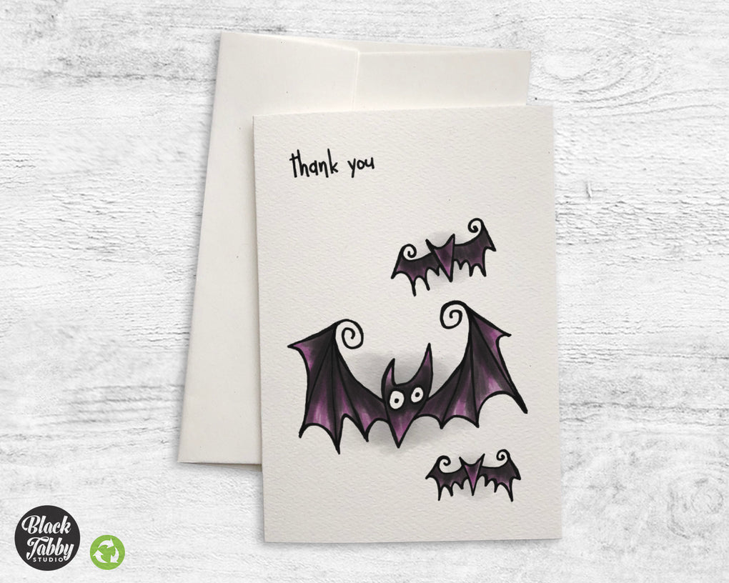 Spooky Bats - Thank You Cards