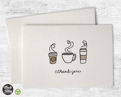 Coffee - Thank You Cards