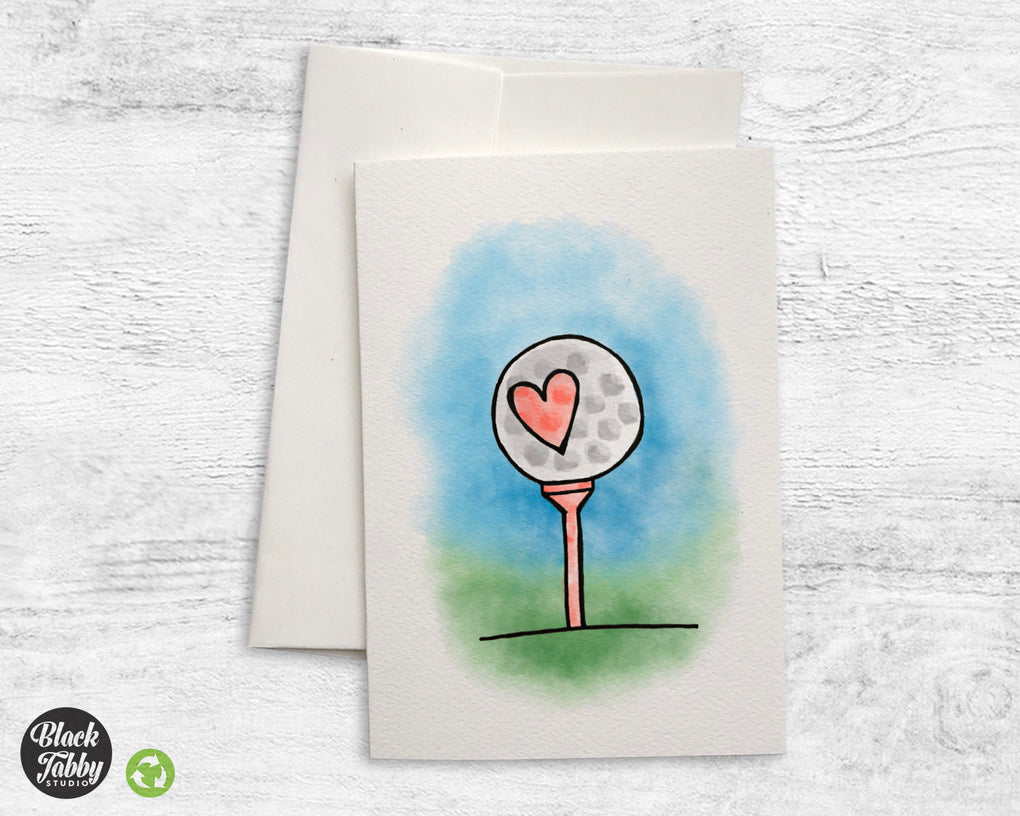 Golf Ball - Greeting Cards