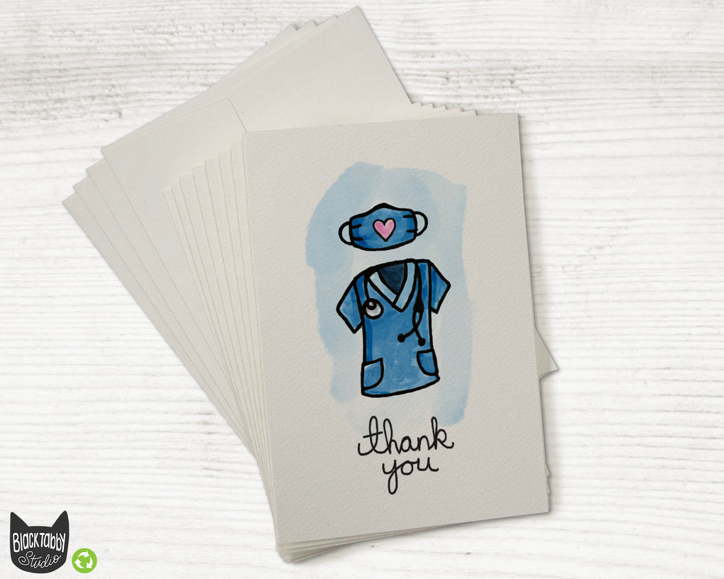 Nurse, Doctor, Healthcare Worker Scrubs - Thank You Cards