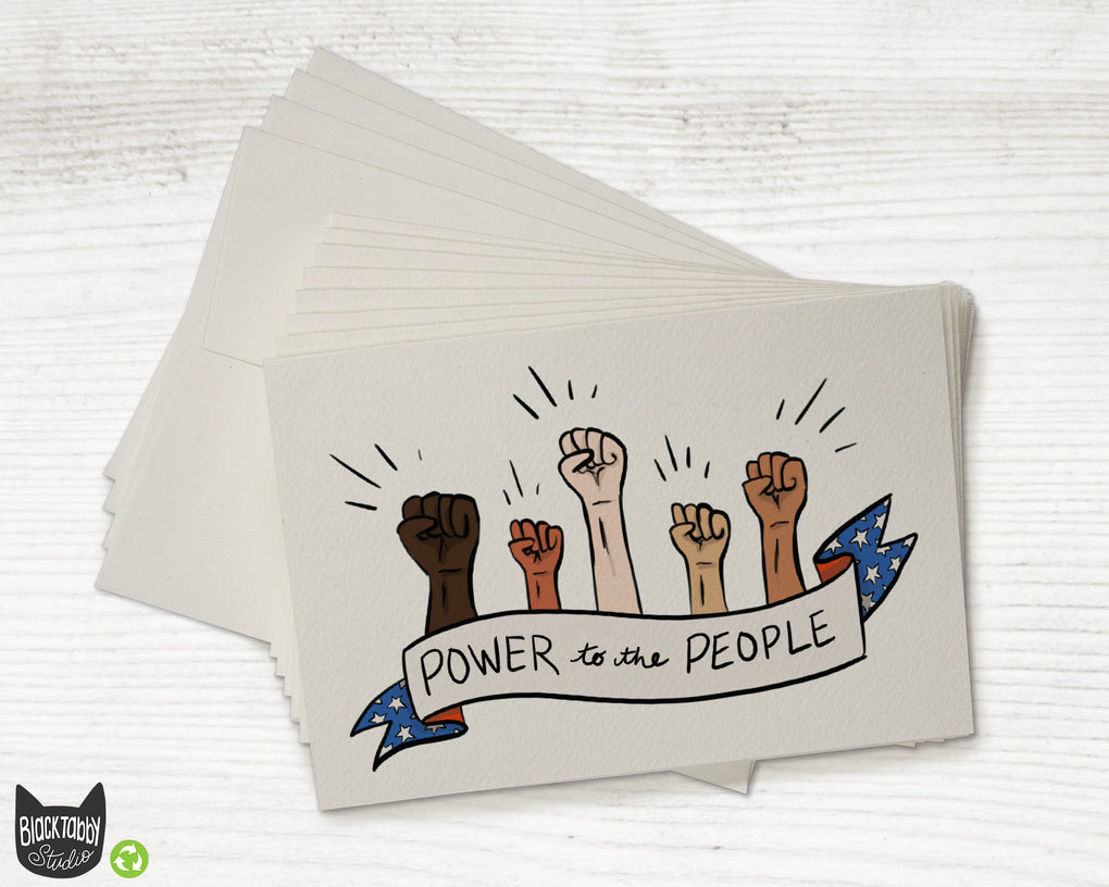 Power to the People - Greeting Cards