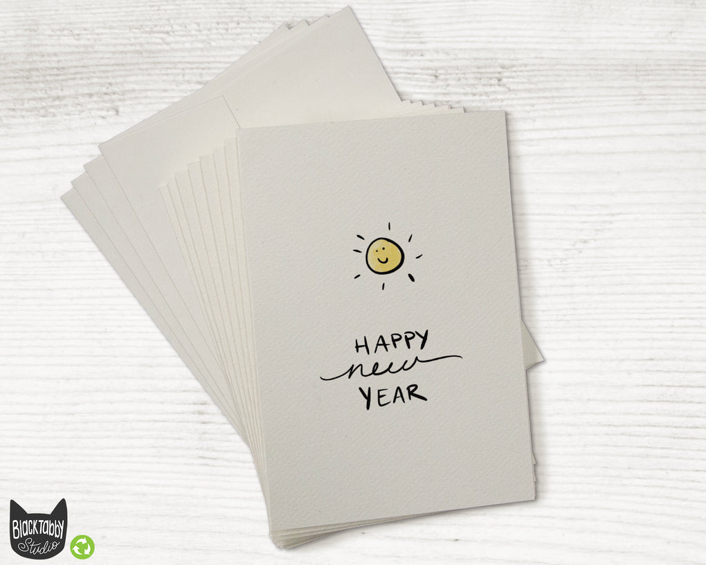 Sunny New Year - Set of New Year Greeting Cards