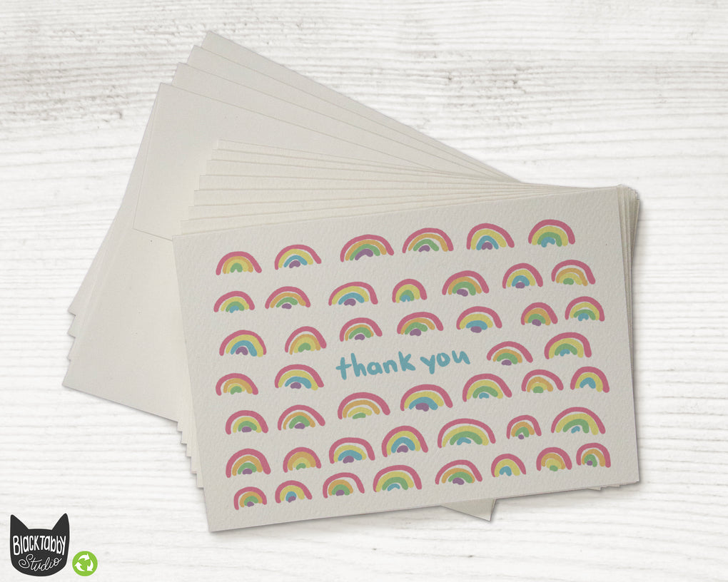Little Rainbows - Set of Thank You Cards