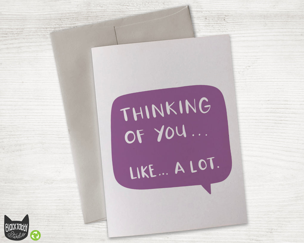 Thinking of You Text Bubble - Thinking of You Card