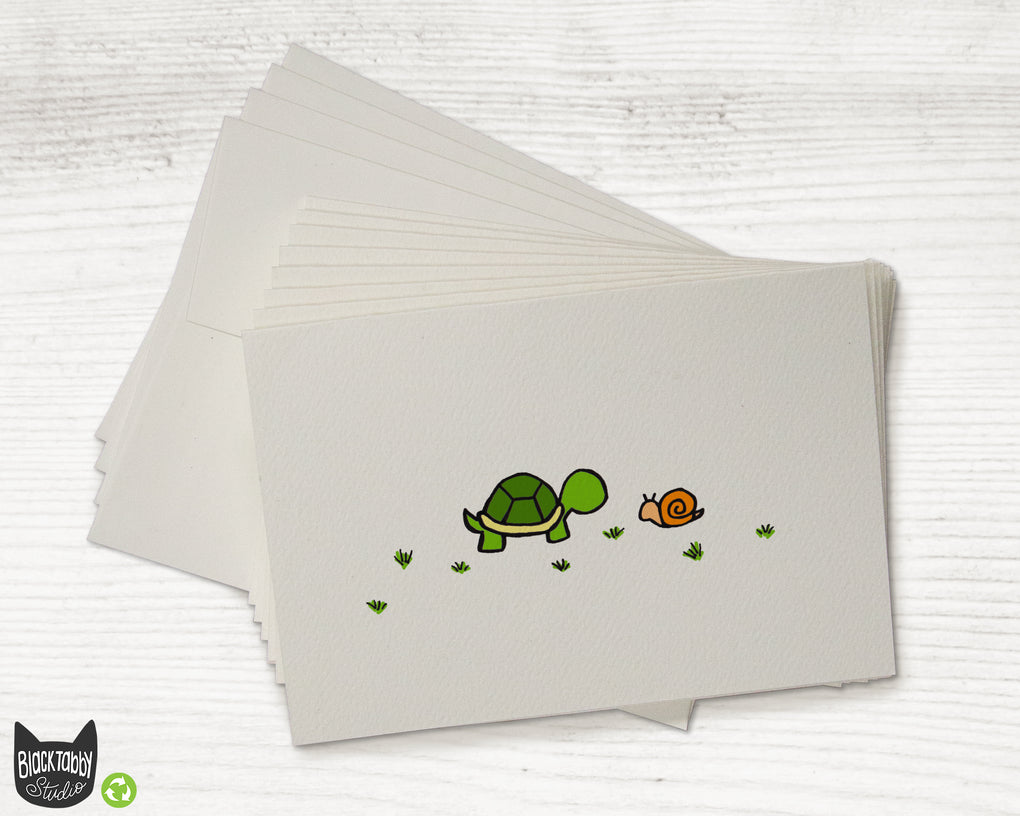 The Turtle & The Snail - CLEARANCE - Greeting Cards